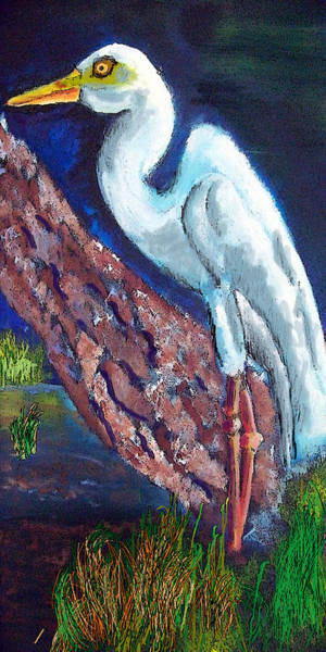 Painting - 1004397egret by Garland Oldham