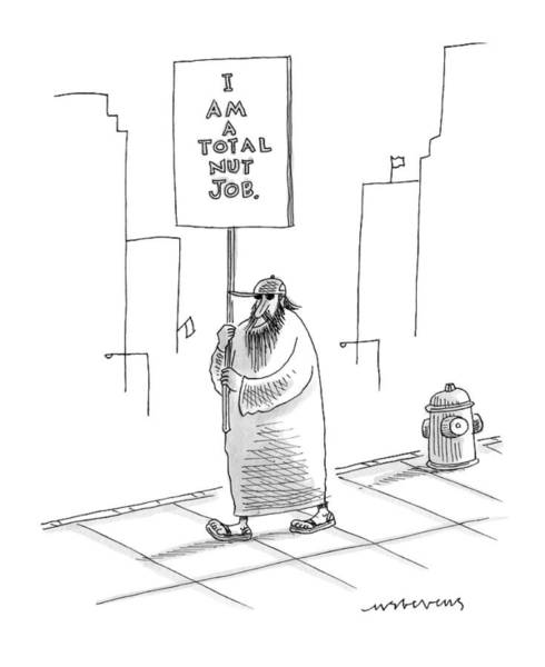 Crazy Drawing - New Yorker September 21st, 2009 by Mick Stevens