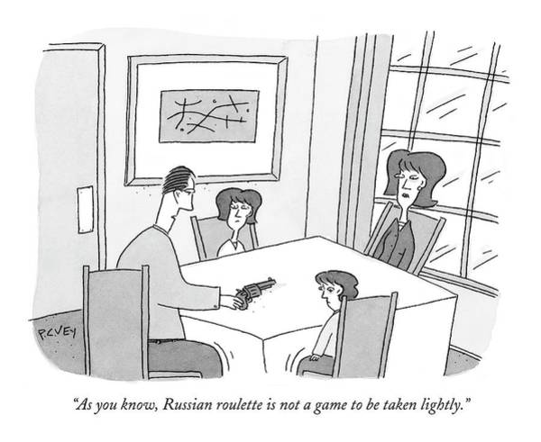 Russian Drawing - As You Know by Peter C. Vey
