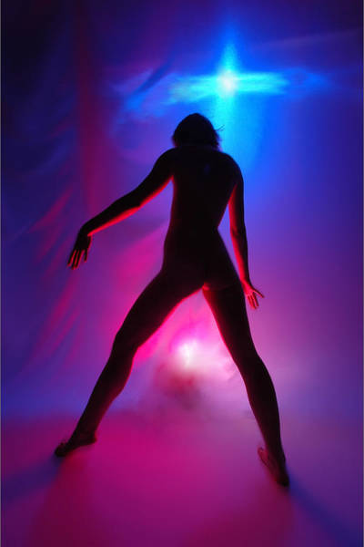Photograph - 1023 Passion Series In Blue And Red by Chris Maher