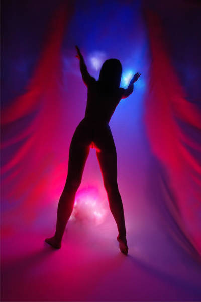 Photograph - 1036  Passion Series In Blue And Red by Chris Maher