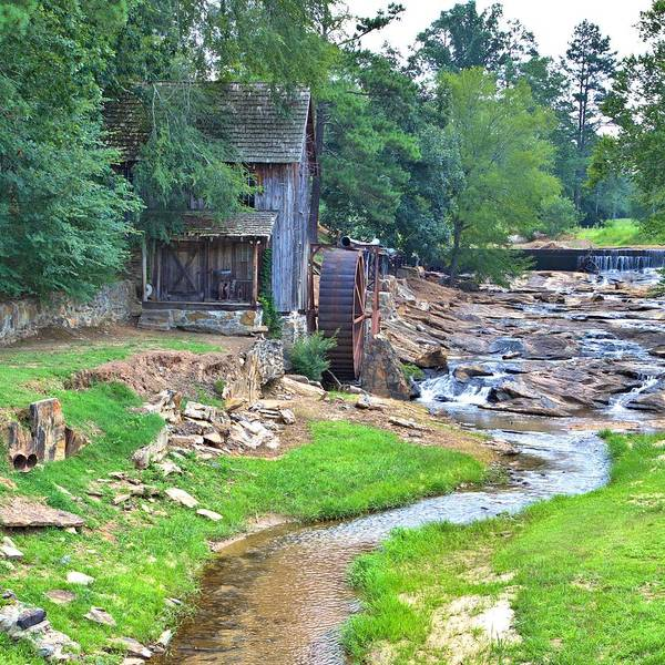 Photograph - Sixes Mill - Dukes Creek - Square by Gordon Elwell