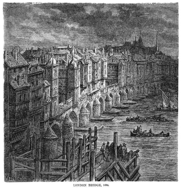Wall Art - Drawing - London by Gustave Dore