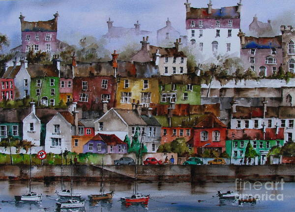 Painting - 107 Windows Of Kinsale Co Cork by Val Byrne