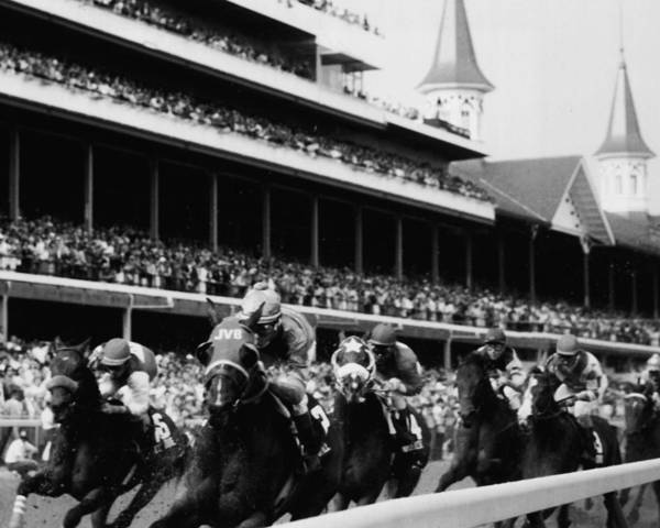 Wall Art - Photograph - Kentucky Derby Horse Racing by Retro Images Archive