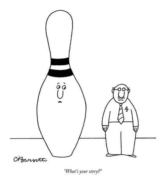 Giant Drawing - What's Your Story? by Charles Barsotti