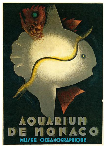 Painting - Aquarium De Monaco by Jean Carlu