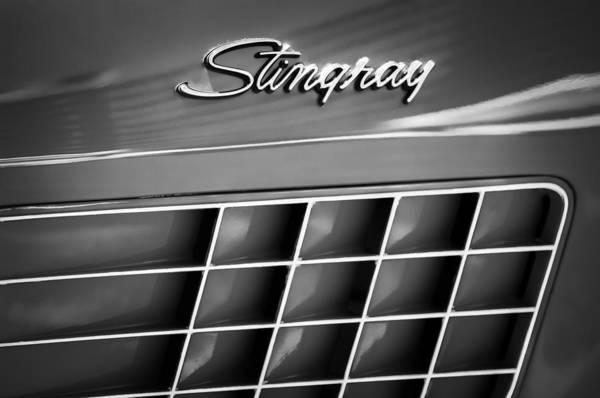 1972 Chevrolet Corvette Stingray Emblem Art Print