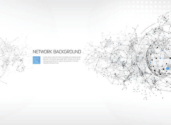 Abstract Network Background Art Print by AF-studio