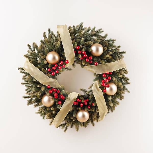 Photograph - Advent Christmas Wreath  by U Schade