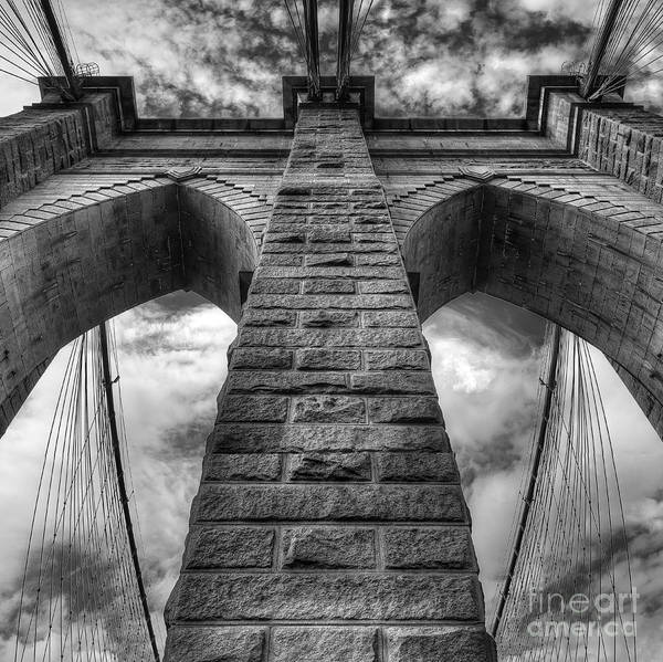 Gift Wrap Photograph - Brooklyn Bridge by Twenty Two North Photography