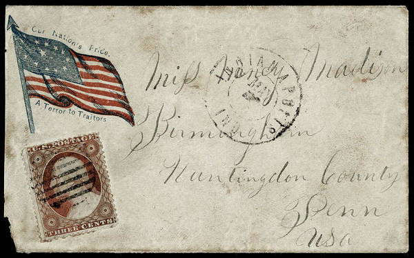 Wall Art - Drawing - Civil War Letter, C1863 by Granger