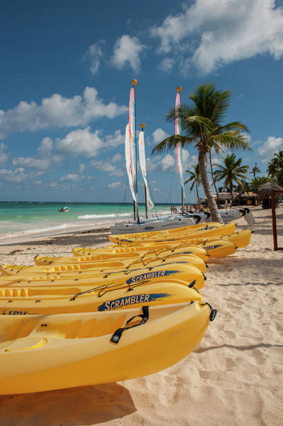 Kayaks Wall Art - Photograph - Dominican Republic, Punta Cana, Higuey by Lisa S. Engelbrecht