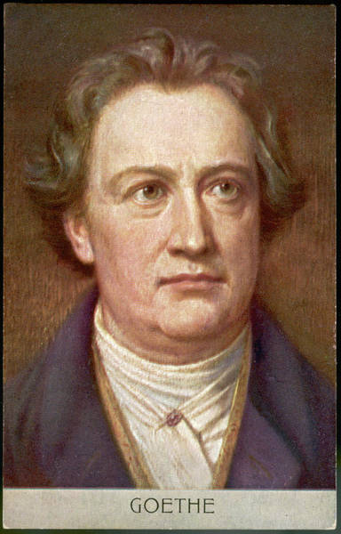 Wall Art - Drawing - Johann Wolfgang Von Goethe  German by Mary Evans Picture Library