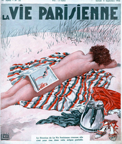 Nineteen-thirties Wall Art - Drawing - La Vie Parisienne 1936 1930s France by The Advertising Archives