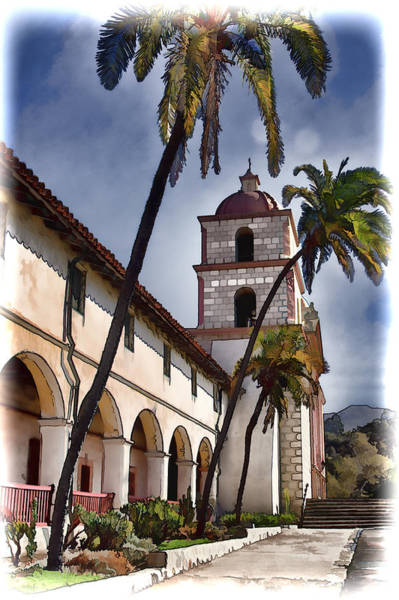 Mission Santa Barbara Photograph - Mission Santa Barbara by Jon Berghoff