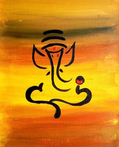 Ganesh Chaturthi Painting - 11 Nandana- Son Of Lord Shiva by Kruti Shah
