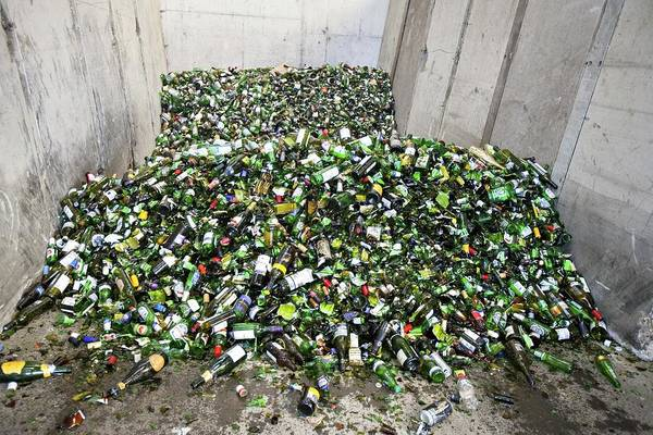 Bottle Green Photograph - Recycling Centre by Lewis Houghton/science Photo Library