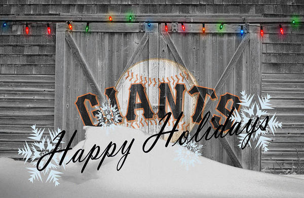 Santa Photograph - San Francisco Giants by Joe Hamilton
