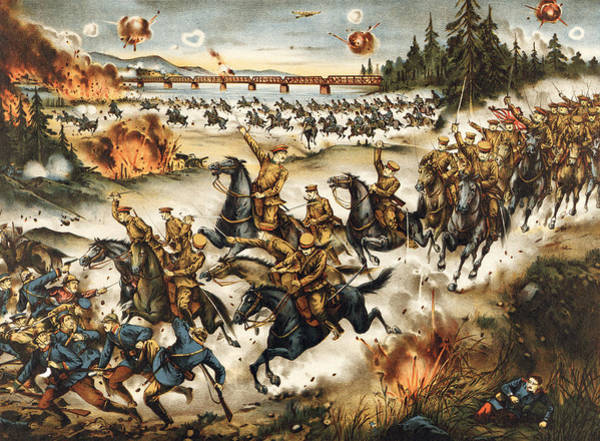 Wall Art - Painting - Siberian Intervention, 1919 by Granger