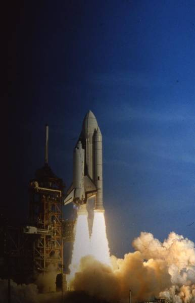 Shuttle Photograph - Space Shuttle Challenger  by Retro Images Archive