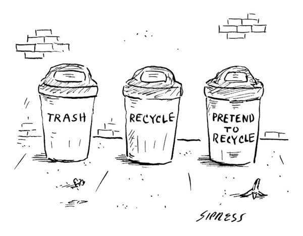 Litter Drawing - Captionless by David Sipress