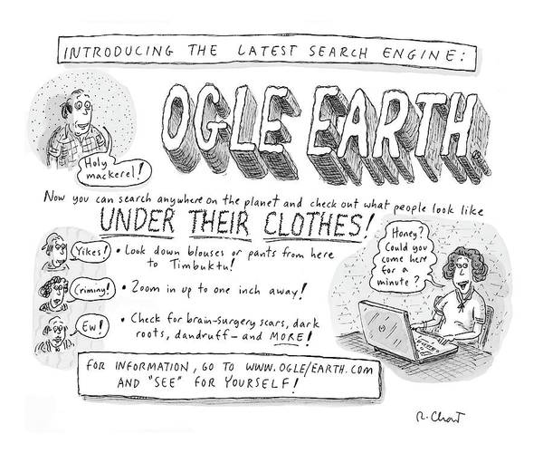 Earth Drawing - Ogle Earth by Roz Chast