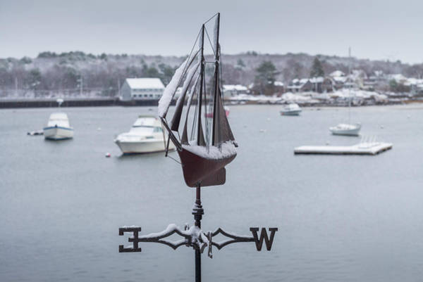 Weather Vane Photograph - Usa, Massachusetts, Cape Ann by Walter Bibikow