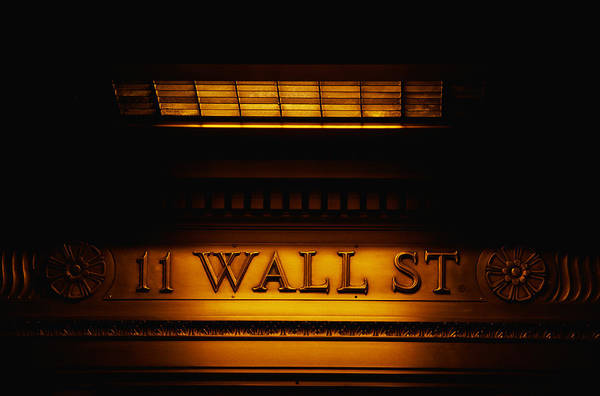 Street Sign Photograph - 11 Wall St. Building Sign by Panoramic Images