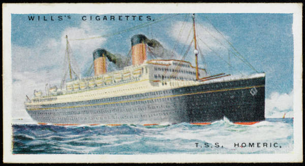 Wall Art - Drawing - White Star Liner On The  Atlantic by Mary Evans Picture Library