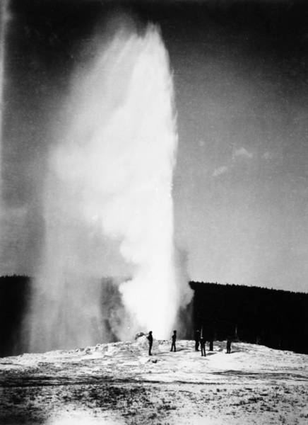 Photograph - Yellowstone Park Geyser by Granger