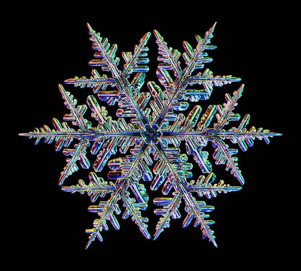 Flake Photograph - Snowflake by Kenneth Libbrecht