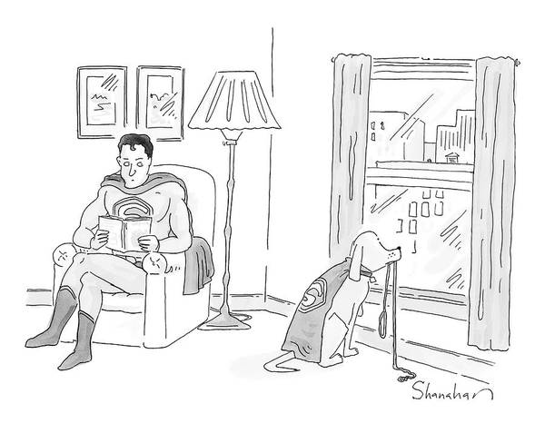 Superhero Drawing - New Yorker March 17th, 2008 by Danny Shanahan
