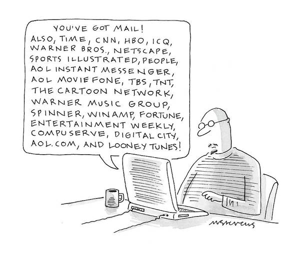 Internet Drawing - New Yorker January 24th, 2000 by Mick Stevens