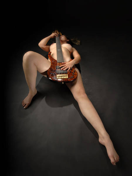 Photograph - 1109 Nude Woman With Guitar by Chris Maher