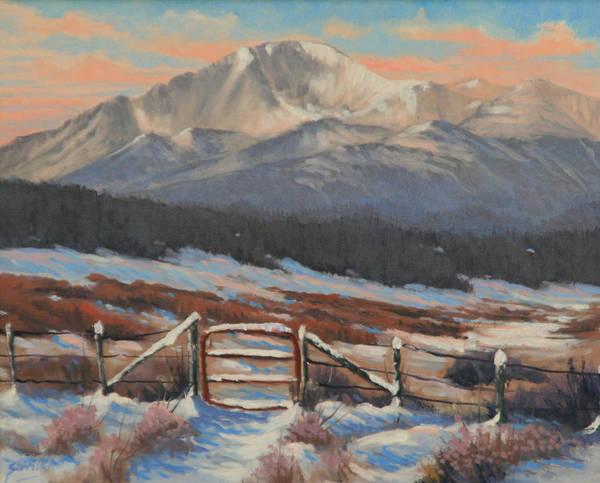 Pikes Peak Painting - 110901-810  Red Gate by Kenneth Shanika