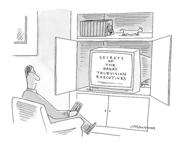 Tv Drawing - New Yorker January 10th, 2000 by Mick Stevens