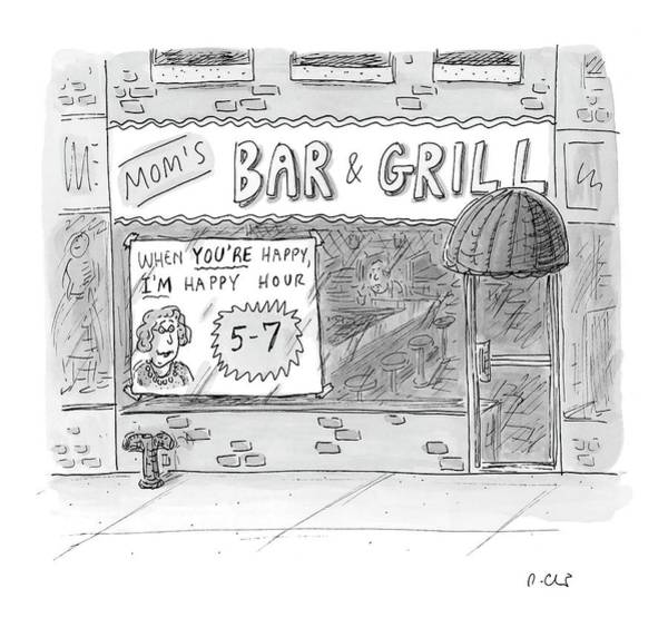 Dine Drawing - New Yorker May 15th, 2006 by Roz Chast