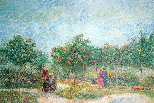 Photograph - People Walking In A Public Garden At Assnieres by Vincent Van Gogh