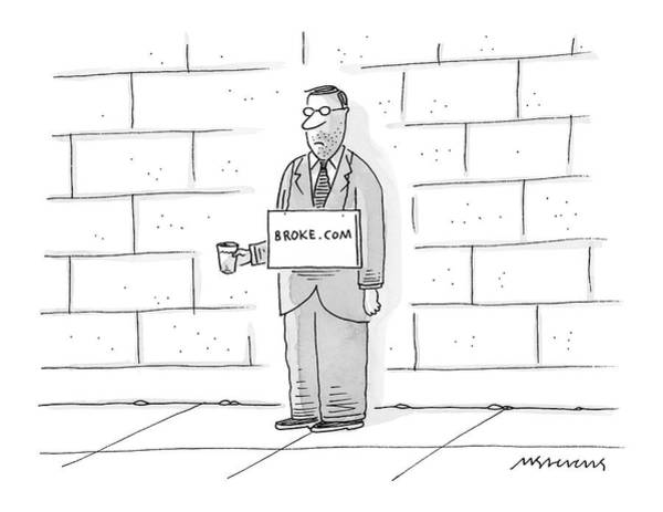 Stock Market Drawing - New Yorker May 22nd, 2000 by Mick Stevens