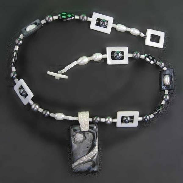 Freshwater Pearls Wall Art - Jewelry - 1141 Black Pearl Star by Dianne Brooks