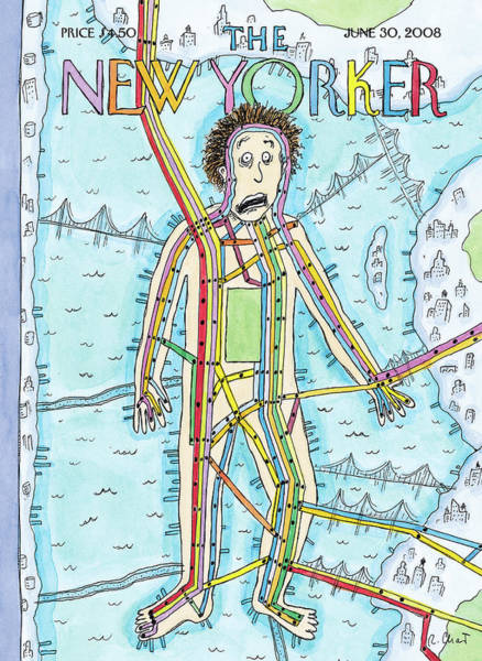 2008 Painting - New Yorker June 30th, 2008 by Roz Chast