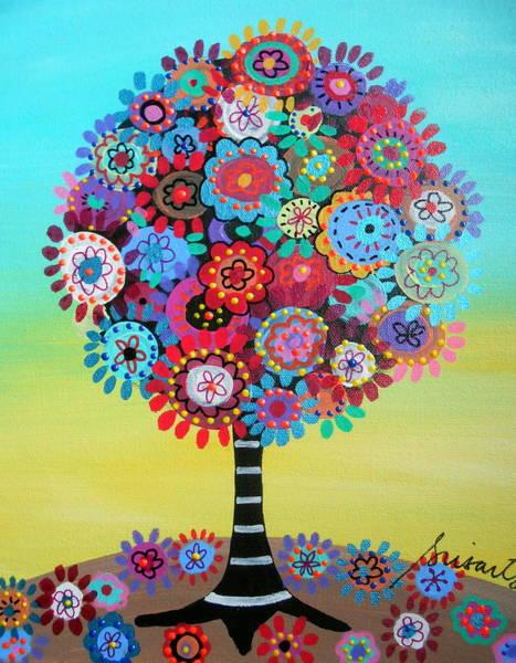Toomer Wall Art - Painting - Tree Of Life by Pristine Cartera Turkus