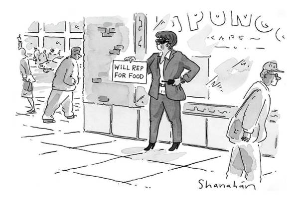 Hollywood Drawing - New Yorker April 24th, 2000 by Danny Shanahan