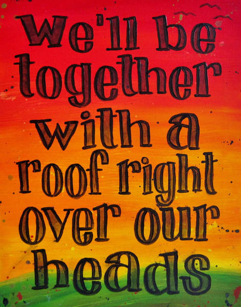 Rasta Painting - 11x14 We'll Be Together by Michelle Eshleman