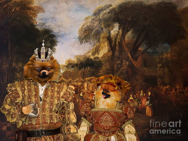 Pomeranian Painting -  Pomeranian Art Canvas Print  by Sandra Sij