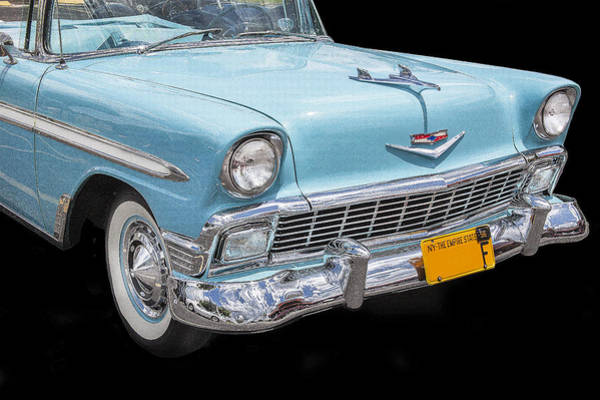 V8 Engine Photograph - 1956 Chevrolet Bel Air Convertible by Rich Franco