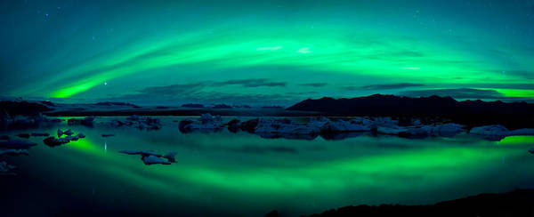 Glacial Photograph - Aurora Borealis Or Northern Lights by Panoramic Images