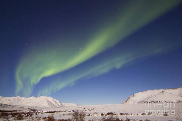 Photograph - Aurora Borealis With Moonlight by Joseph Bradley