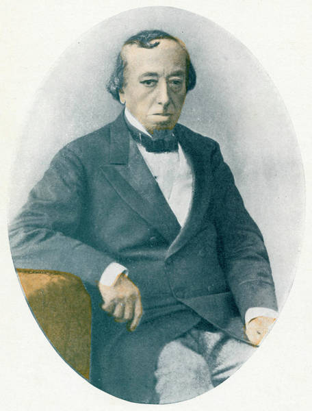 Wall Art - Photograph - Benjamin Disraeli, Earl Of Beaconsfield by Mary Evans Picture Library